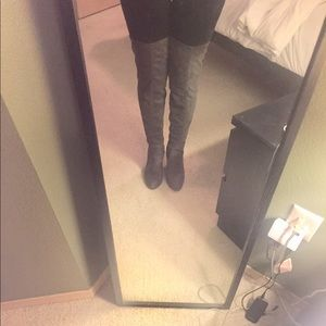 Forever 21 Gray Over The Knee Boots 👢